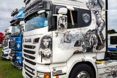 Beautiful artwork on Scania truck at Truckfest Stock Photography