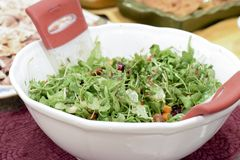 A beautiful arugula salad for Thanksgiving