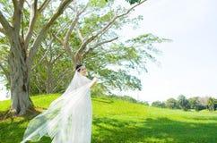 Beautiful asian bride Stock Photo