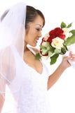 Beautiful Asian Bride at Wedding. A beautiful asian bride on her wedding day Stock Photos
