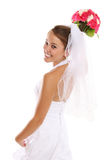 Beautiful Asian Bride at Wedding. A beautiful asian bride on her wedding day Royalty Free Stock Images