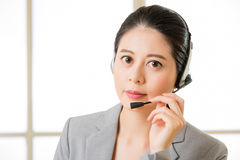 Beautiful asian business customer service woman smiling Royalty Free Stock Photo