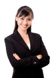 Beautiful asian business woman. Young beautiful confident asian business woman Royalty Free Stock Images
