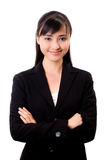 Beautiful asian business woman. Young beautiful confident asian business woman Stock Photography