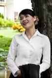 Beautiful Asian business woman. Stock Images
