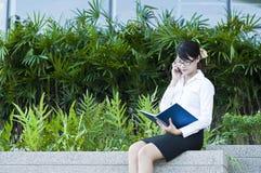 Beautiful Asian business woman. Stock Photo