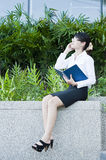 Beautiful Asian business woman. Royalty Free Stock Images