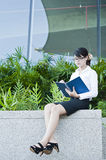 Beautiful Asian business woman. Stock Photos