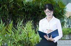 Beautiful Asian business woman. Royalty Free Stock Photos