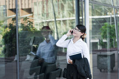 Beautiful Asian business woman. Royalty Free Stock Photos