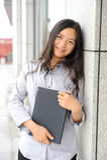 Beautiful asian businesswoman Stock Image
