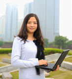 Beautiful asian businesswoman Stock Image