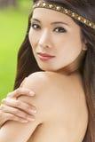 Beautiful Asian Chinese Woman Girl With Headband Stock Photo