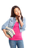 Beautiful asian college student Royalty Free Stock Photo