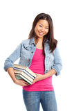 Beautiful asian college student Royalty Free Stock Photography