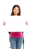 Beautiful asian college student Stock Photo