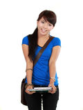 Beautiful asian college student Stock Photography
