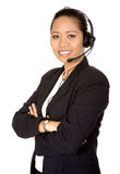 Beautiful asian customer service woman Stock Photos