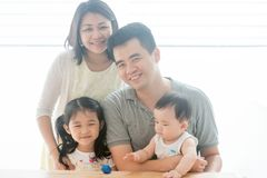 Beautiful Asian family Stock Photography