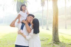 Beautiful asian family Royalty Free Stock Images