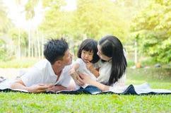 Beautiful asian family Stock Image