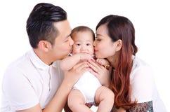 Beautiful asian family stock photography