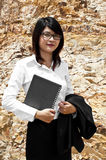 Beautiful Asian geologist woman. Royalty Free Stock Photo