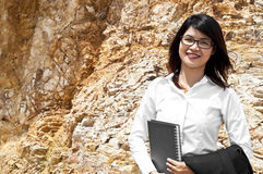 Beautiful Asian geologist woman. Stock Images