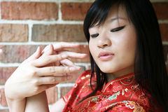 Beautiful Asian girl Stock Image