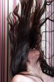 Beautiful asian girl. With long hair Royalty Free Stock Photos