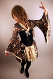 Beautiful Asian girl. Wearing a dress royalty free stock photography