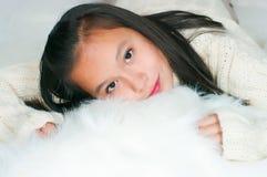 The beautiful Asian girl Stock Photography