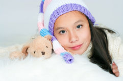 The beautiful Asian girl Royalty Free Stock Images