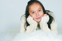 The beautiful Asian girl Royalty Free Stock Photos
