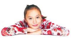 The beautiful Asian girl Royalty Free Stock Photo