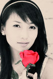 A beautiful Asian girl. Stock Photos