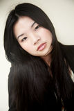 Beautiful Asian girl in black Royalty Free Stock Images