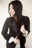 Beautiful Asian girl in black Stock Photography