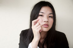 Beautiful Asian girl in black Royalty Free Stock Photography