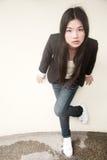 Beautiful Asian girl in black Stock Photos