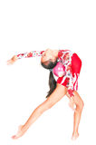Beautiful Asian girl gymnast with a ball Royalty Free Stock Photos