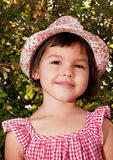 Beautiful asian girl in a hat Stock Photography