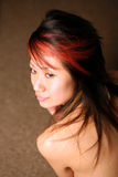 Beautiful Asian girl looking to the side Royalty Free Stock Photo