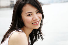 Beautiful Asian girl looking at viewer Royalty Free Stock Photography
