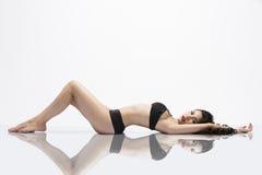 Beautiful Asian Girl Mirror Image Stock Images