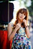 Beautiful asian girl. In park Royalty Free Stock Photos