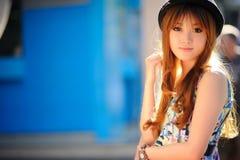 Beautiful asian girl. In park Stock Images