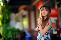 Beautiful asian girl Royalty Free Stock Photography