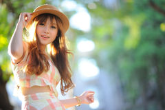 Beautiful asian girl Stock Images