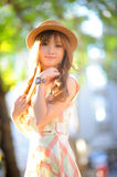 Beautiful asian girl. In park Royalty Free Stock Images